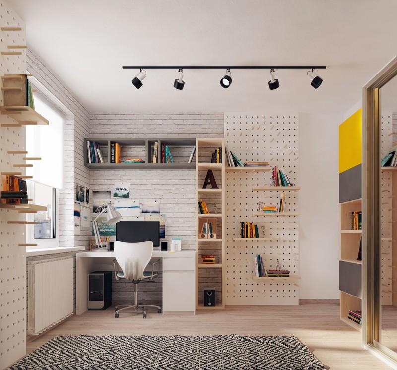 Phòng học thiết kế nhiều kệ lưu trữ