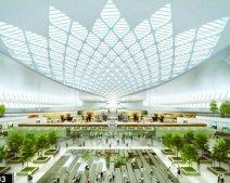 Sẽ có thác nước, sân vườn tại nhà ga sân bay Long Thành