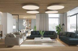 Vẻ đẹp ấm áp trong căn hộ sử dụng nội thất gỗ chủ đạo