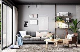 Vẻ đẹp cuốn hút trong căn hộ màu xám